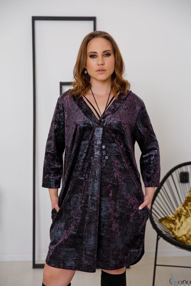 FIOLETOWA TUNIKA MARMARIS PLUS SIZE
